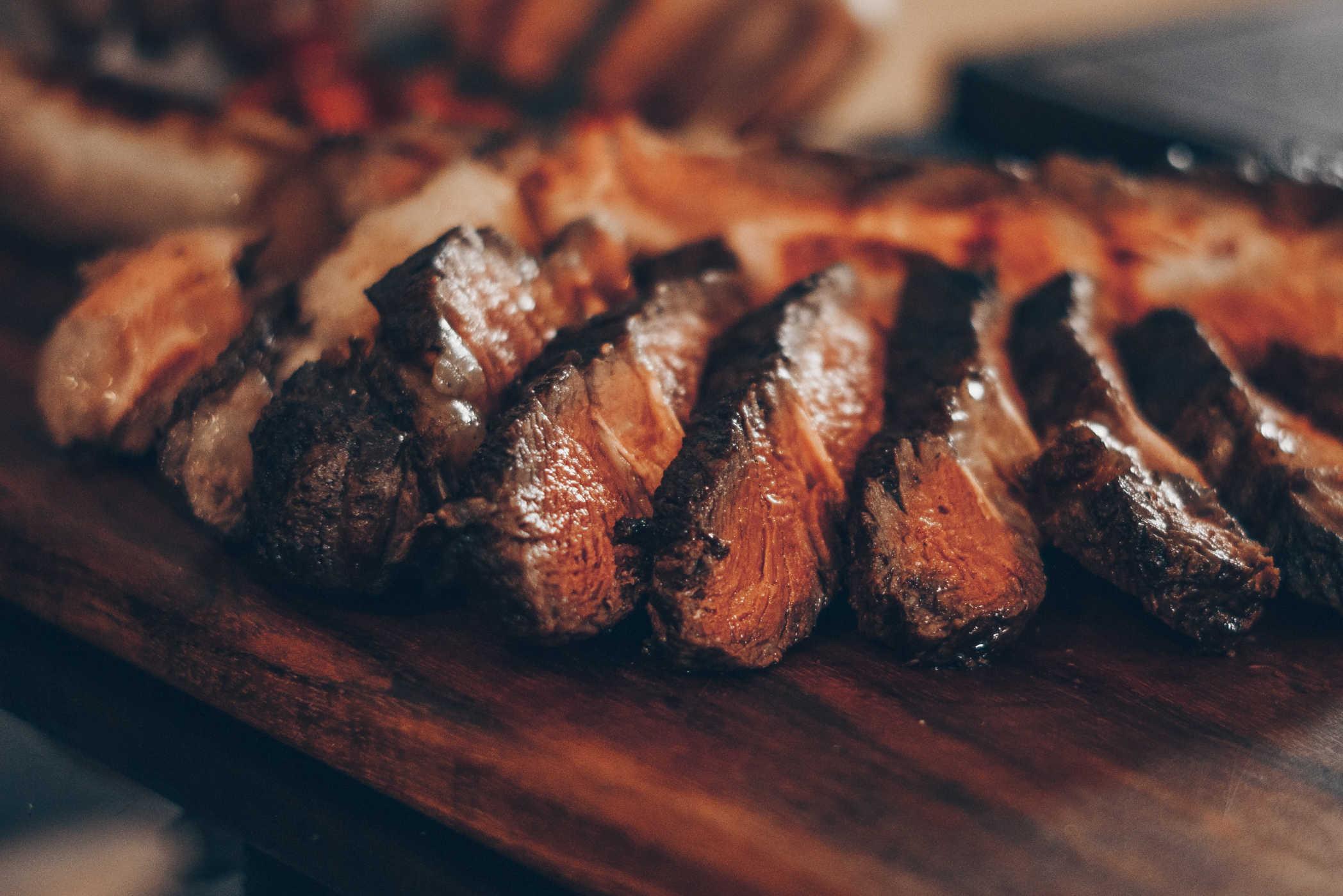 Wood fired roast beef