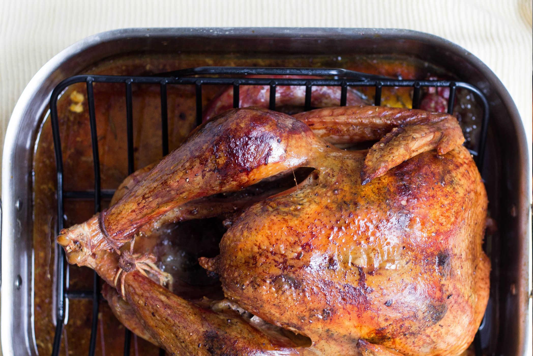Wood fired roast chicken