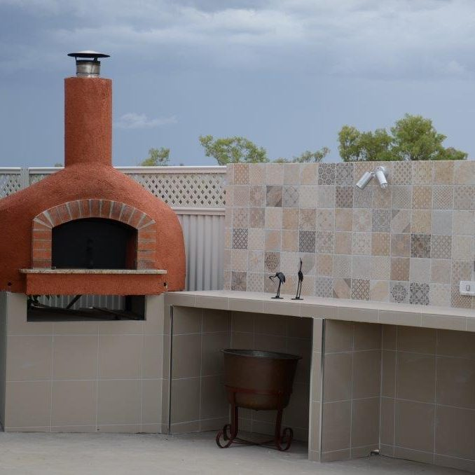 Italian wood fired oven
